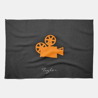 Orange Movie Camera Towel