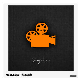 Orange Movie Camera Wall Decal
