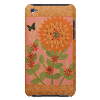 Orange Mum & Butterfly iPod Case iPod Case-Mate Cases