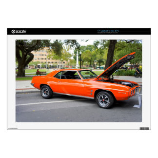 Orange Muscle Decal For Laptop