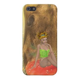 Orange Mushroom Fairy iPhone 4 Case