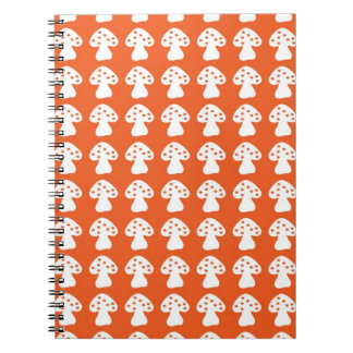orange mushroom notebook
