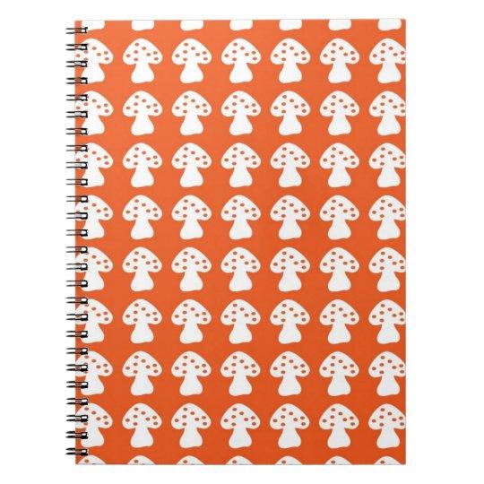 orange mushroom notebook
