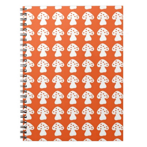 orange mushroom spiral note books