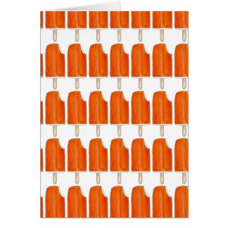 Orange n' Cream Creamsicle Popsicle Notecards Card