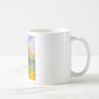 Orange Nasturtium Flower Mug