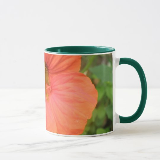 Orange Nasturtium Flower Mug