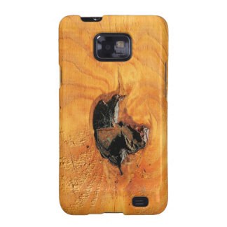 Orange natural wood with black hole and spiderweb samsung galaxy s2 cases