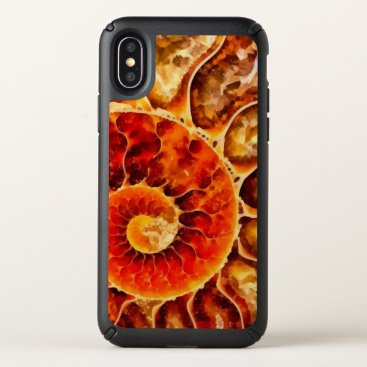 Beach Themed Orange Nautilus Art Speck iPhone X Case