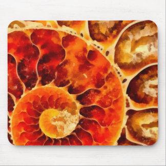Orange Nautilus Mouse Pad