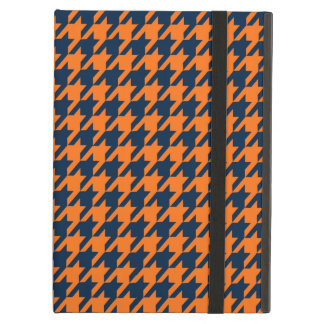 Orange/Navy Blue Houndstooth iPad Air Covers