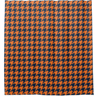 Orange And Blue Shower Curtains | Zazzle