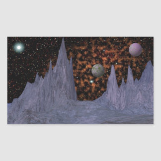 Orange Nebula Space Scene Stickers
