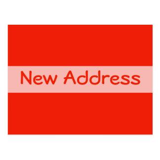 orange new address postcard