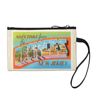 Orange New Jersey NJ Vintage Travel Postcard- Coin Wallet