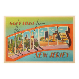 Orange New Jersey NJ Vintage Travel Postcard- Wood Print