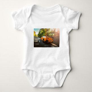 Orange Nissan GT-R Ripping through Seattle streets Baby Bodysuit