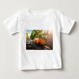 Orange Nissan GT-R Ripping through Seattle streets Baby T-Shirt