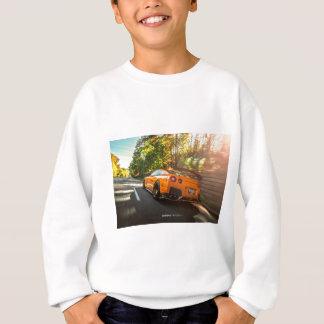 Orange Nissan GT-R Ripping through Seattle streets Sweatshirt