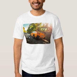 Orange Nissan GT-R Ripping through Seattle streets T Shirt
