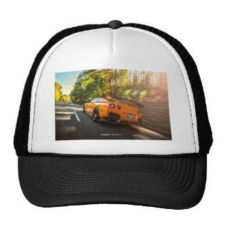 Orange Nissan GT-R Ripping through Seattle streets Trucker Hat
