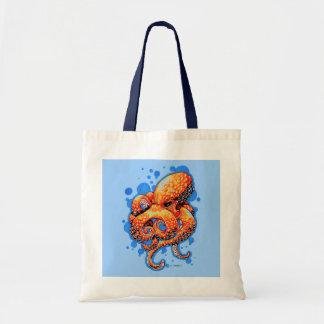 orange octopus canvas bags