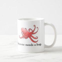 Orange octopus coffee mug