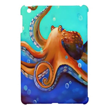 Beach Themed Orange Octopus Cover For The iPad Mini