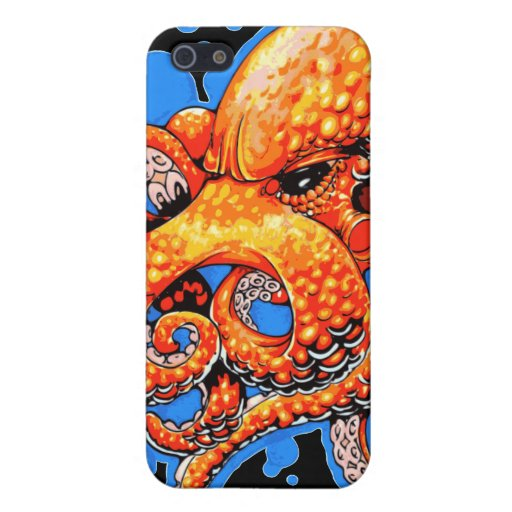Orange Octopus Covers For iPhone 5