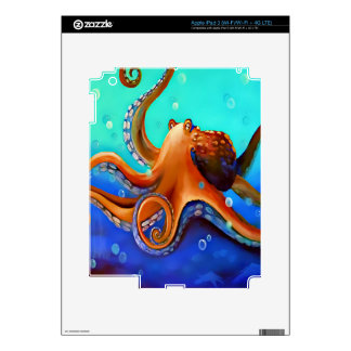 Orange Octopus Decals For iPad 3