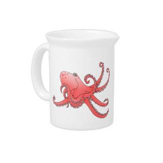 Orange octopus drink pitchers