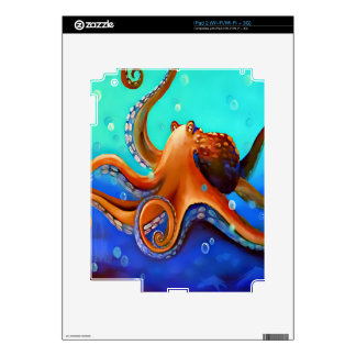 Orange Octopus iPad 2 Skin