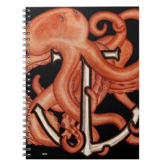 Orange Octopus Over Anchor Journal