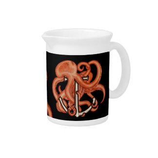 Orange Octopus Over Anchor Pitchers