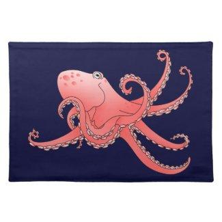 Orange octopus place mats