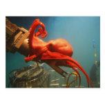 Orange Octopus Post Cards