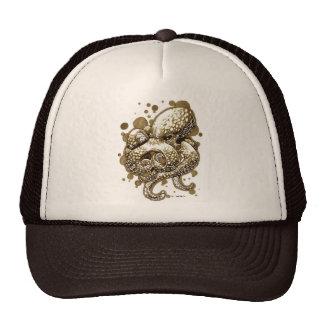 orange octopus -Sep Trucker Hats