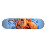 orange octopus skateboard deck
