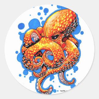 orange octopus sticker