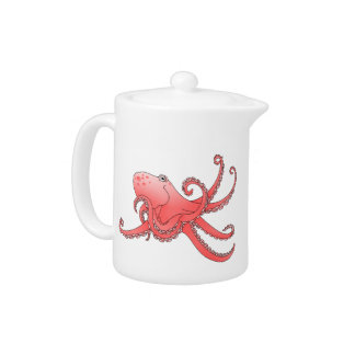 Orange octopus teapot