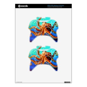 Beach Themed Orange Octopus Xbox 360 Controller Skins