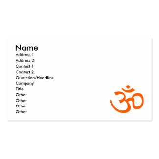 Orange Om or Aum ॐ.png Business Cards