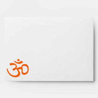 Orange Om or Aum ॐ.png Envelope