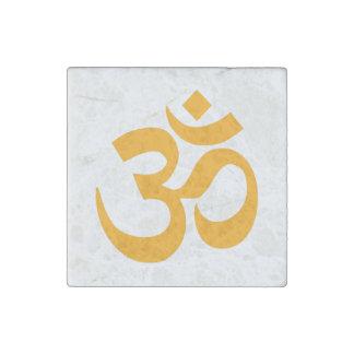Orange Om Symbol Stone Magnet
