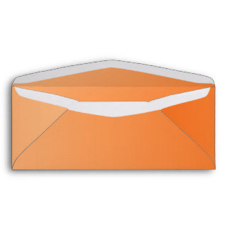 Orange Ombre #10 Envelope