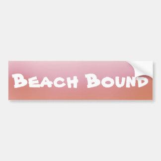 Orange Ombre Beach Bound Bumper Sticker