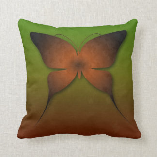 Orange Ombre Butterfly Pillow