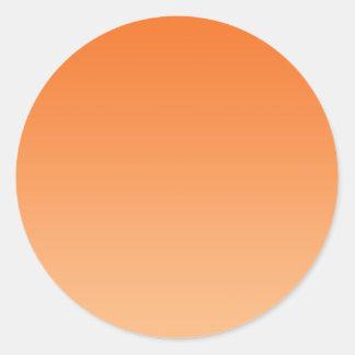 Orange Ombre Classic Round Sticker
