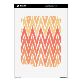 Orange Ombre Ikat Chevron Zig Zag Stripes Pattern Decal For iPad 2