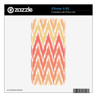 Orange Ombre Ikat Chevron Zig Zag Stripes Pattern Decal For The iPhone 4S
